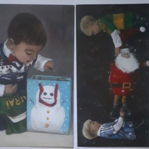 Boys dressed for Christmas GAA jerseys with Santa