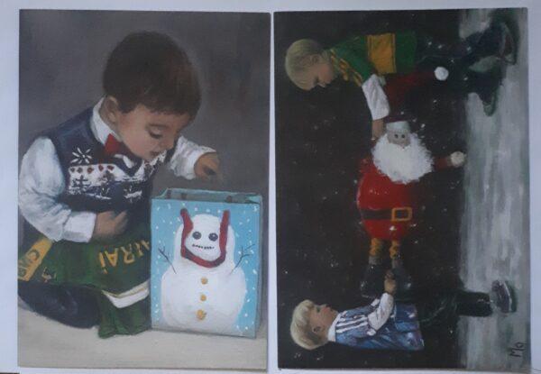 Boys dressed for Christmas GAA jerseys with Santa