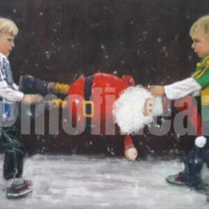 Dublin and Kerry GAA boys fighting over Santa Claus