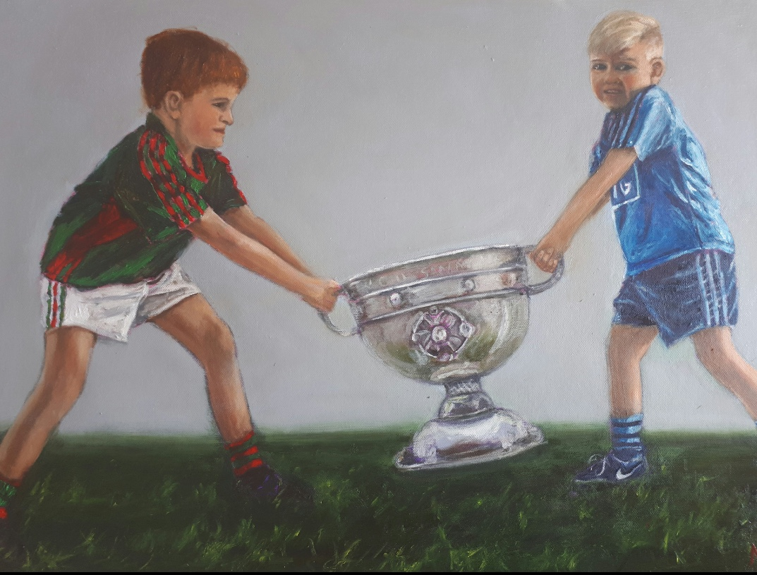 Diblin and Mayo lads fighting over the Sam Maguire